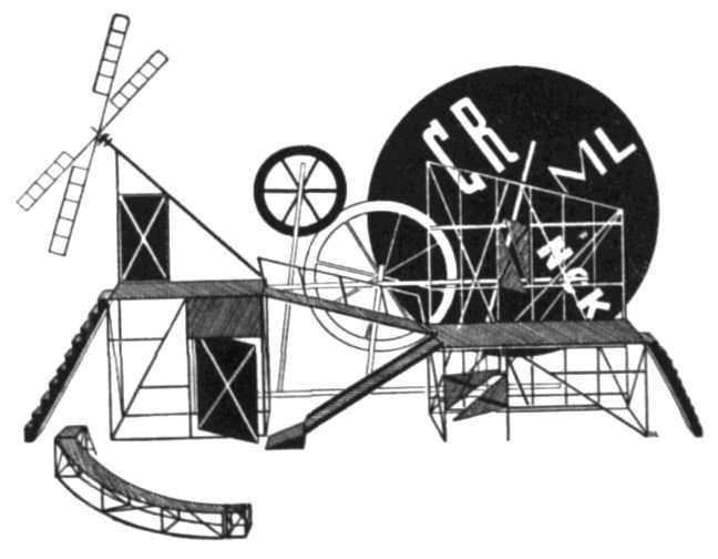 Lyubov Popova - Stage Design for Vsevolod Meyerhold's 'The Magnanimous Cuckold', 1922
