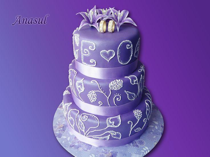 fialová- svadobná