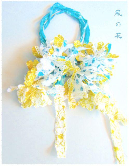 Fabric Lariat Necklace 布だけのネックレス, Flor de Viento    IKUKO FUJII