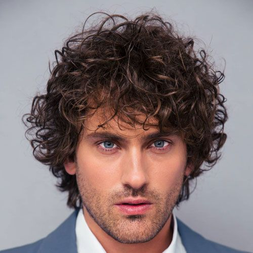 Long Messy Curls For Men   – Haircuts