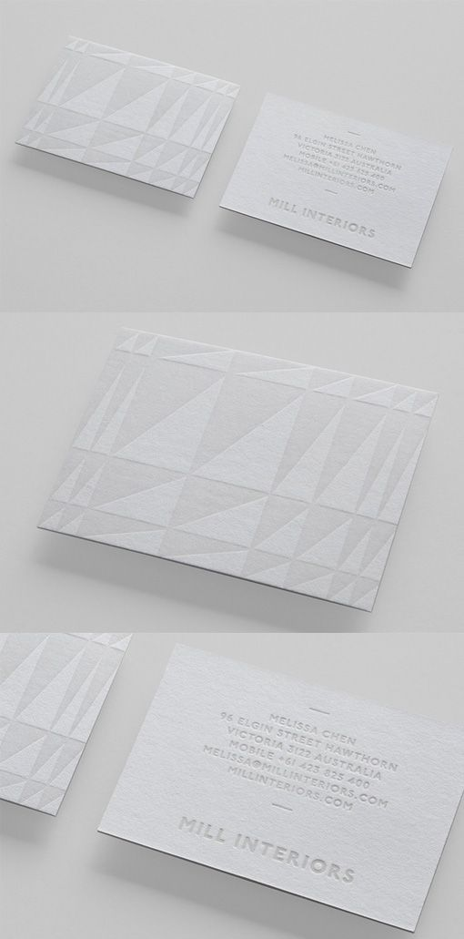 121 best business cards images on pinterest carte de visite beautiful subtle textured white on white business card design for an interior designer reheart Gallery