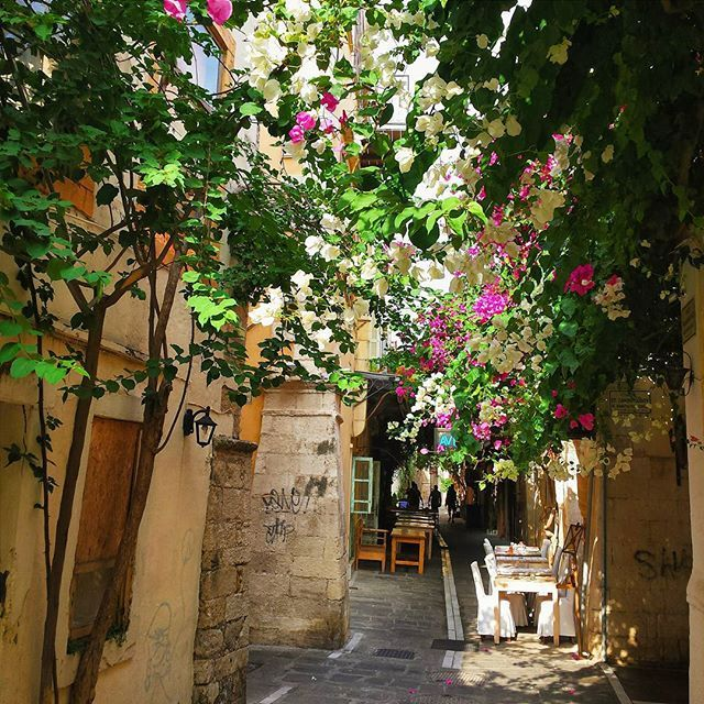 Another old street with blooming flowers! #Rethymno #Crete #Summer Photo credits: @jometro