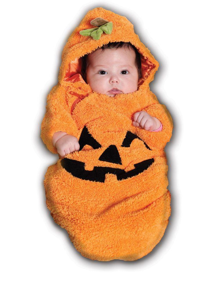 ORANGE PUMPKIN BUNTING infant baby newborn girls boys halloween costume 0-6M #Underwraps