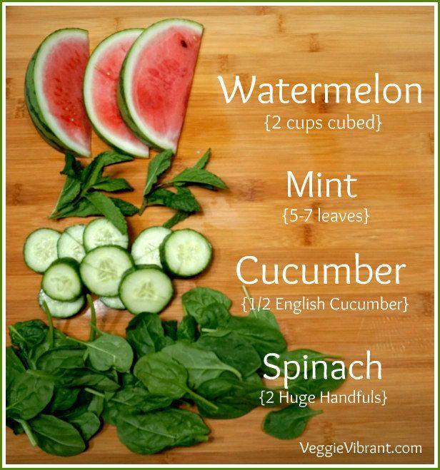 Watermelon Mint Glowing Green Juice Recipe!
