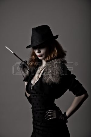 Mafia woman concept