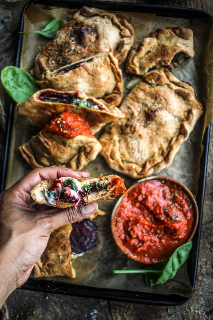 Pepperoni-Spiced Beet and Spinach Hot Pockets