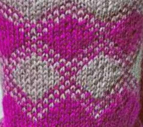 Diamond Intarsia Knitting Chart