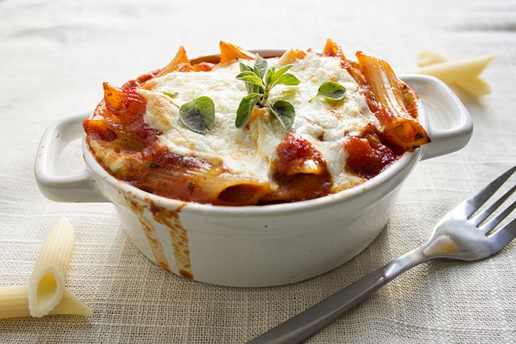 skinny 3 cheese penne recipe serves 8 low fat low calorie low sodium and vegetarian view of a single serving