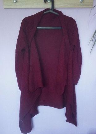 Kup mój przedmiot na #vintedpl http://www.vinted.pl/damska-odziez/kardigany/14006144-bordowy-sweter-pleciony-burgund-uniwersalny