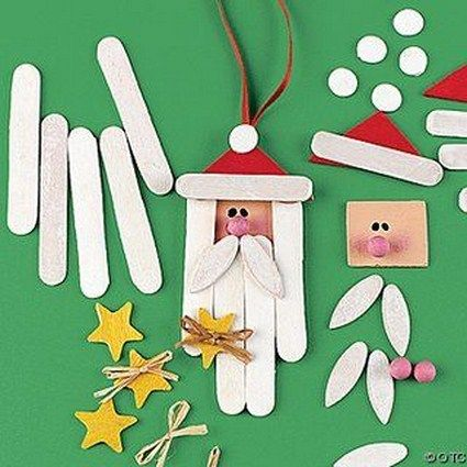manualidad navidad papa noel excelente para realizar con los niños