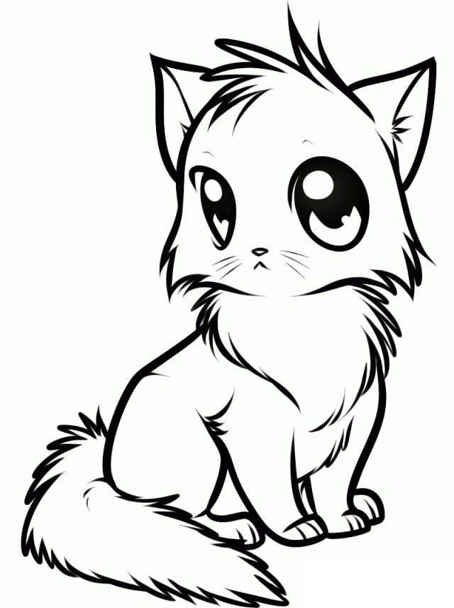 Картинки котята милые нарисованные карандашом