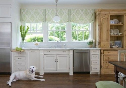 Lynn Chalk - Casual Shade Valance in Kitchen, Please fill out Quote Form for Valances for pricing or email me lynn@lynnchalk.com if you would like a similar custom product. (http://store.lynnchalk.com/casual-shade-valance-in-kitchen/)