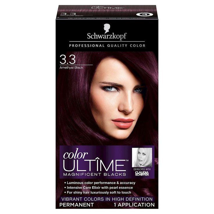 Schwarzkopf Color Ultime Magnificent Blacks Hair Color 3.3 Amethyst Black - 2.03 oz