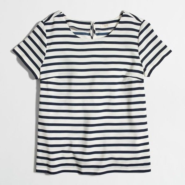J.Crew Factory printed T-shirt ($39) ❤ liked on Polyvore featuring tops, t-shirts, j crew tee, j crew t shirts and j crew tops