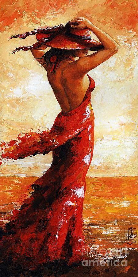 Hot Breeze # 5 Painting  - Hot Breeze # 5 Fine Art Print