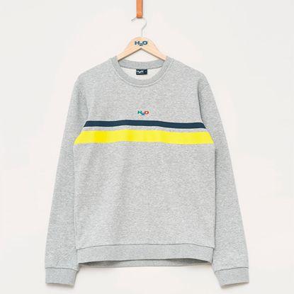 H2O Sportswear - Maine Sweat, Grey/Navy/Yellow