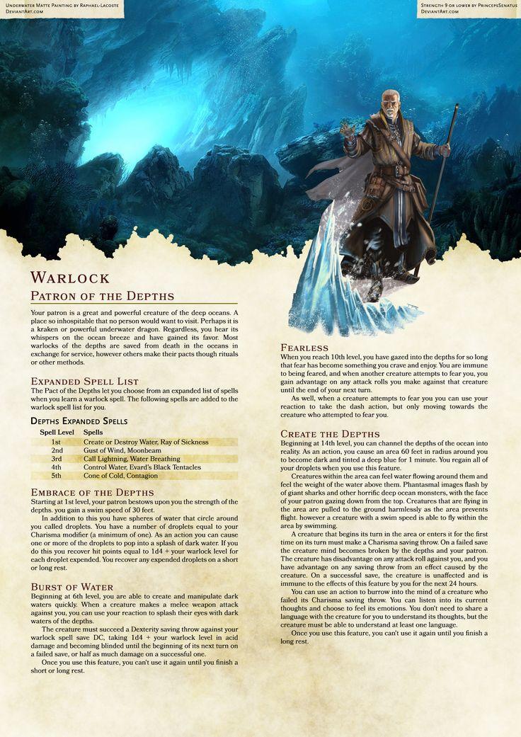 5th edition warlock spells pdf