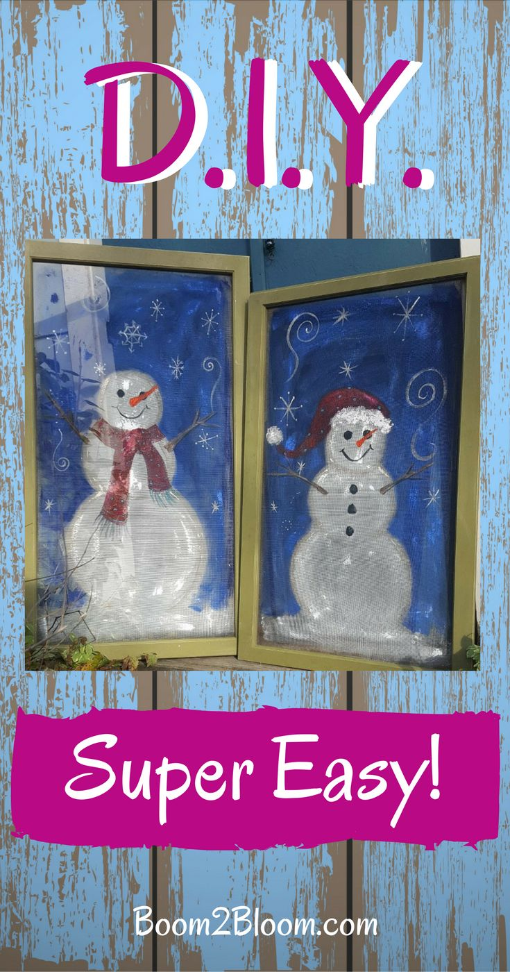 D.I.Y. Snowman Project - Easy Step-by-Step Instructions #DIY #DIYSnowman #Snowman