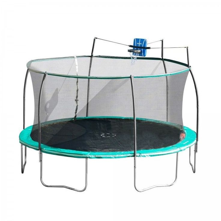 Round Trampoline With Enclosure Rustproof Galvanized Steel Frame Spring Covers  #RoundTrampolineWithEnclosure