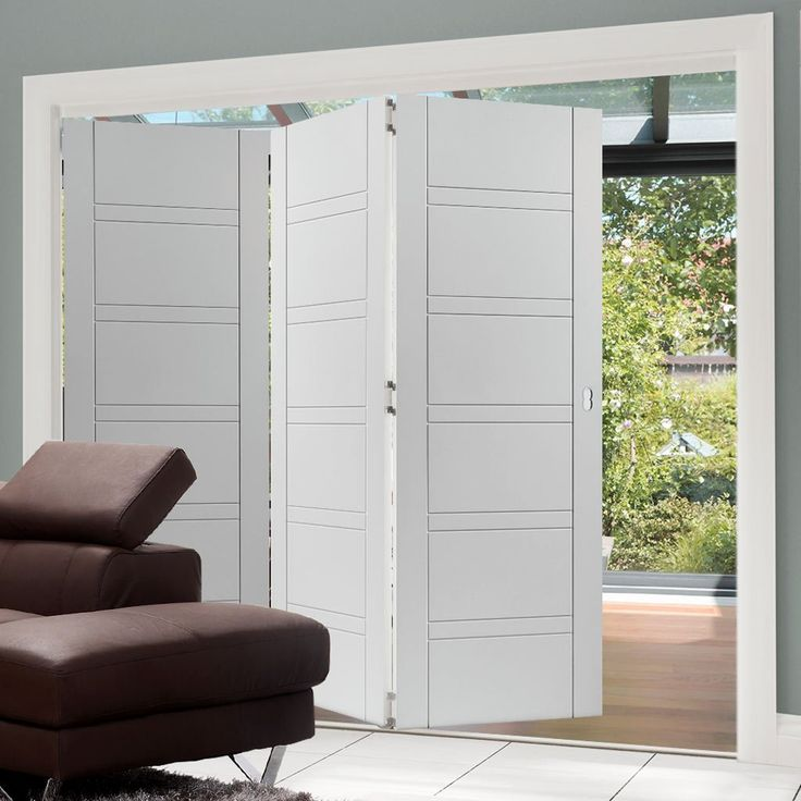 Thrufold Imperial White 3+0 Folding Door . whiteinteriordoors #flushdoors #foldingdoor #internaldoor #thrufolddoor #bifolddoor #roomfoold