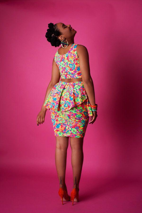 The Garden Party Skirt ~African fashion, Ankara, kitenge, African women dresses, African prints, Braids, Nigerian wedding, Ghanaian fashion, African wedding ~DKK