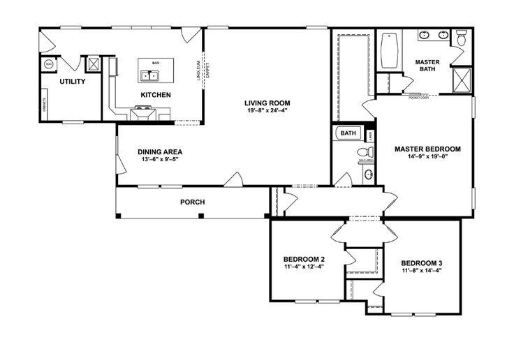 27dsp45683ah Norris Homes Clayton Homes Floor Plans Mobile Home Floor Plans
