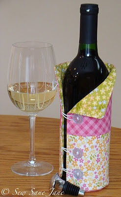 Cozy wine koozie sewing pinterest wine jackets and for Cute wine bottles
