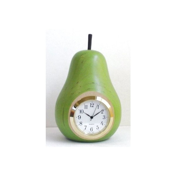Cute Pear Clock from Polyvore