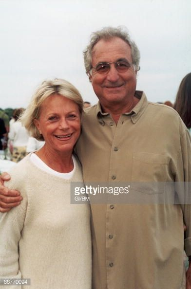 Financier Bernard Madoff (R) and his wife Ruth Madoff during July 2002 in Montauk, NY.