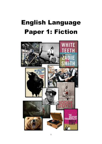NEW GCSE English Language: AQA Paper 1 Revision Booklet  || Ideas and inspiration for the teaching of GCSE English || www.gcse-english.com ||