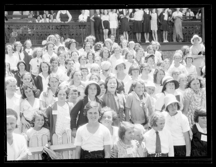 St Clare sports carnival, 20 August 1935. Forms part of the ACP Magazines Ltd. photographic archive including Pix magazine negatives, 1930s-1980s. Mitchell Library, State Library of New South Wales: http://www.acmssearch.sl.nsw.gov.au/search/itemDetailPaged.cgi?itemID=1122609, image no. 2. Digital order no. c004050002