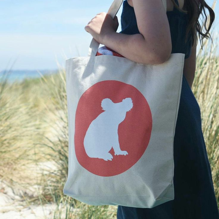 Iconic koala tote by cockatoo collection perfect beach