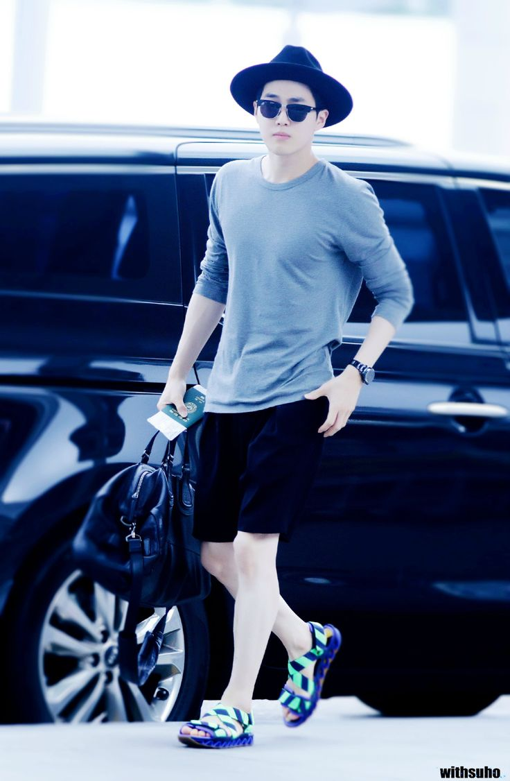 150724: EXO Suho (Kim Joonmyun); Incheon Airport to Kansai Airport #exok #fashion #style #kpop