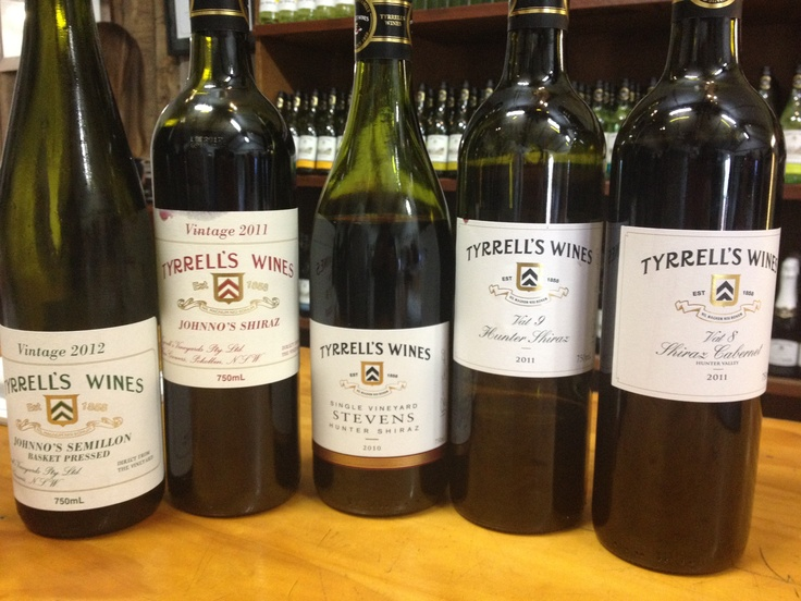A great line up of wine from Tyrrell's Winery. Be sure to stop in and visit on your trip to the Hunter Valley #wine #nsw #huntervalley