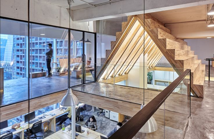 Completed in 2014 in  Chengdu, China., China. Images by Arch-exist Photography & Wuyu Visual. The project is located in the financial center. The designer intends to create a natural, warm, relaxed and uncindtrained office space among the...
