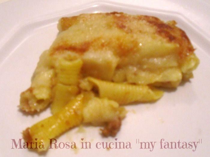 Sformato di pasta corta con purè, ricetta riciclo