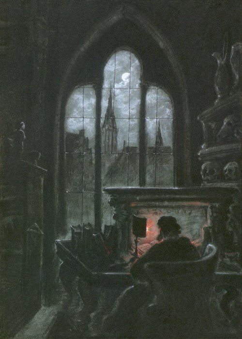 lord-dandy:    Carl Gustav Carus (1789–1869) - Faust im Studierzimmer (Faust in His Study)  1851