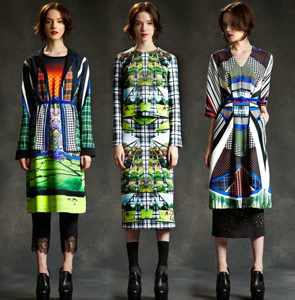 runway print trends best of womens aw 2014 print mix Runway | Best Prints of AW14 Womenswear