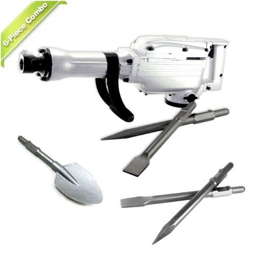 Neiko 6-Piece Electric Jack Hammer with Extra Spade and Chisels Accessories - Oversize package - shipping with FedEx or UPS only, PO Box address not accepted. Package will be double box with strong packaging prevent the case from being damaged during