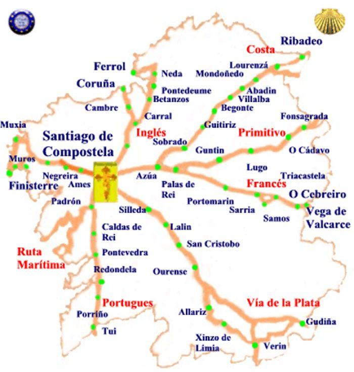 Best 25 Mapa de galicia ideas on Pinterest  Camino de santiago