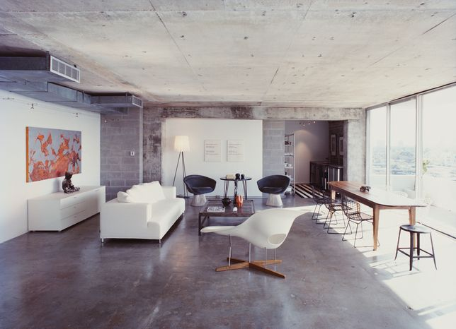 office space / concrete floors