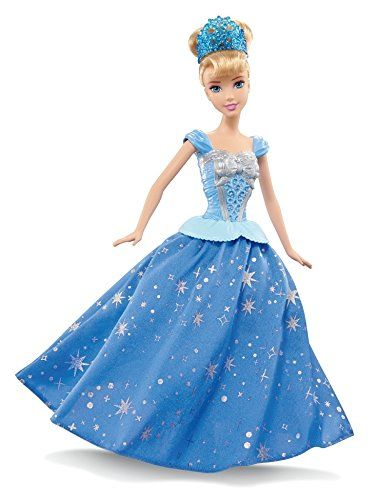 Make a dazzling, royal impression with Disney Princess Twirling Skirt Cinderella Doll - inspired by the movie moment when she transforms from a housedress into her iconic ball gown! The princess is ex