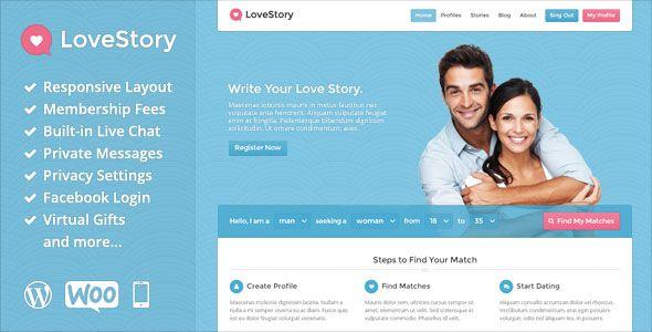 LoveStory v1.9 - Themeforest Dating WordPress Theme