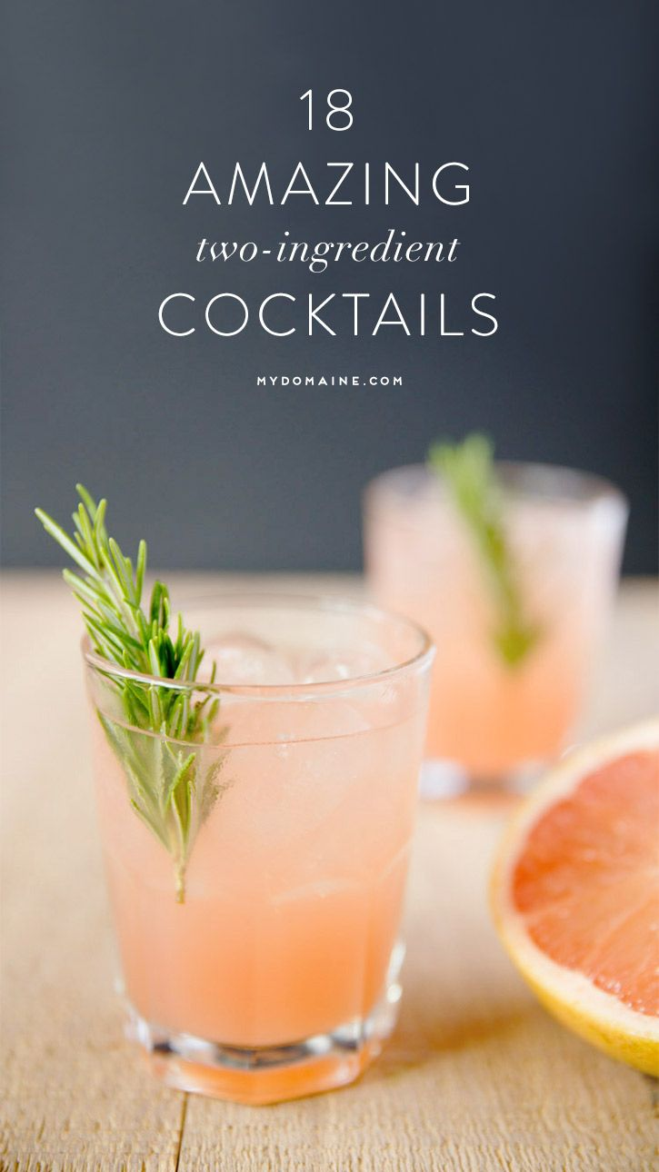 Two ingredient cocktail recipes, umm yes, please. #cocktails #summerdrinks #cocktailsrecipes