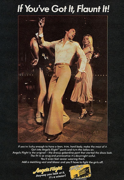 70's Mens Angels Flight brand pants - getting down at the disco!