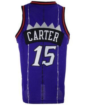 adidas Kids' Vince Carter Toronto Raptors Retired Player Swingman Jersey  - Purple XL