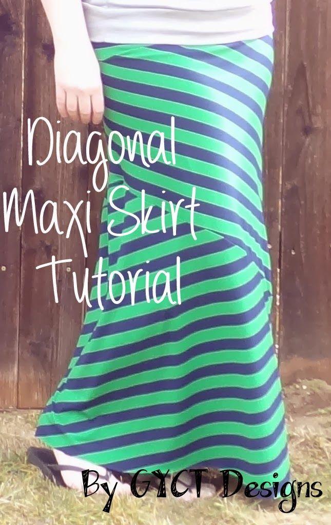 How to Sew a Diagonal Maxi Skirt Tutorial