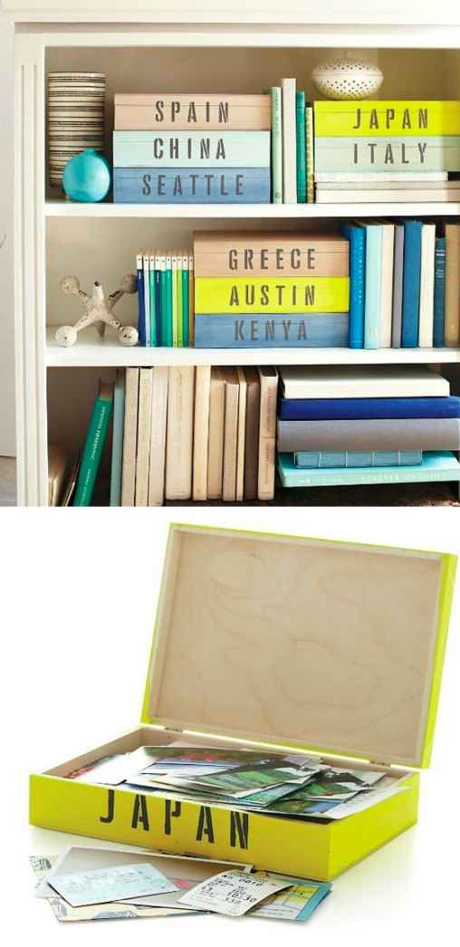 Make display-worthy keepsake boxes for each of your favorite destinations: