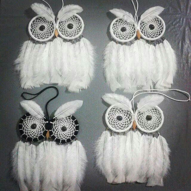 Owl Dreamcatchers. These are so cute!!