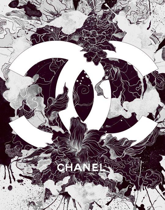 Brands in Full Bloom: Logo, Chanel, Darylferil, Illustration, Graphics Design, Mixed Media, Daryl Career, Design Blog, Full Bloom